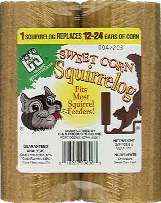 Sweet Corn Squirrel Logs