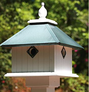 Carriage House Birdhouse-4 Nest in Vinyl/PVC