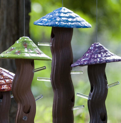 Ceramic Tube Bird Feeders