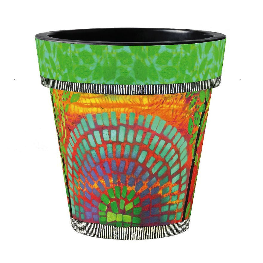 Color Burst Vinyl Art Planter-18 inch