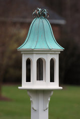 Copper Roof Gazebo Bird Feeder- PVC with Ribbon Detail