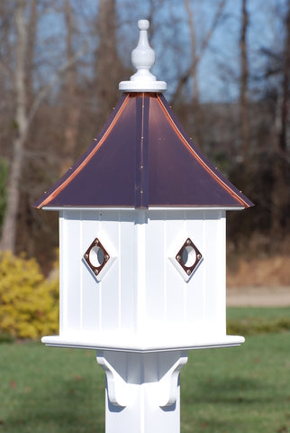 Copper Roof Birdhouse 28x10- 4 Portals