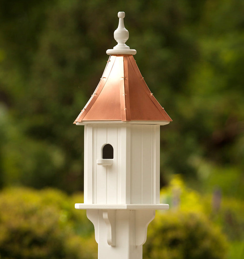 Copper Roof Birdhouse with Perch