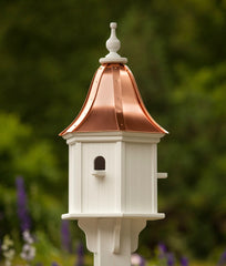 Copper Roof Birdhouse Vinyl with 3 Perches