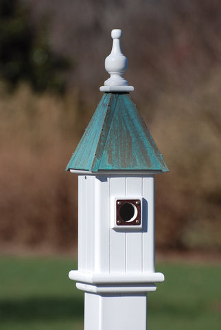Copper Roof Bluebird House-Patina