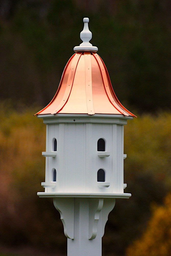 Copper Roof Vinyl Birdhouse Dovecote With 8 Perches The