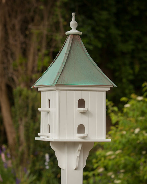 Copper Roof Birdhouse Vinyl Pvc With 8 Nest W Perches