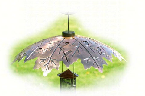 Bird Feeder Weather Guard-Brushed Copper