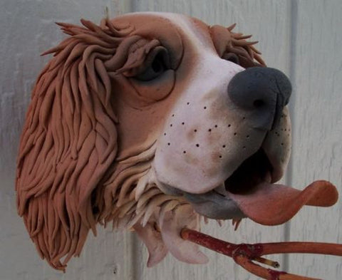 Springer Spaniel Ceramic Birdhouse