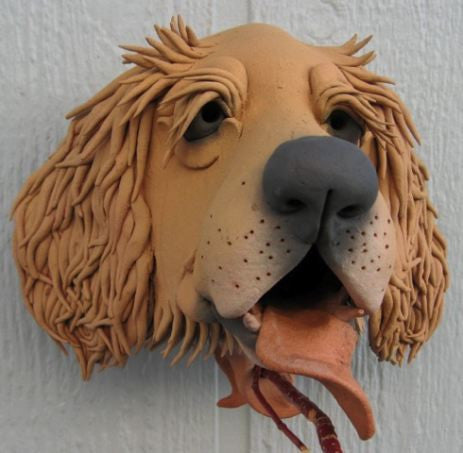 Gargler Ceramic Birdhouse Golden Retriever