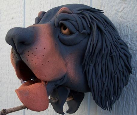 Scottish Setter Ceramic Birdhouse