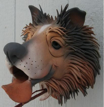 Collie Ceramic Birdhouse