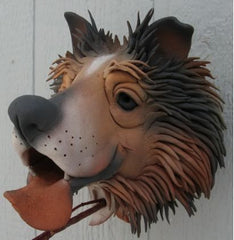 Gargler Ceramic Birdhouse Collie