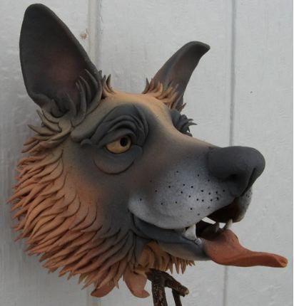 German Shepherd Ceramic Birdhouse