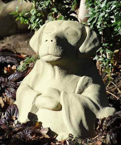 Meditating Zen Dog-Large Garden Sculpture