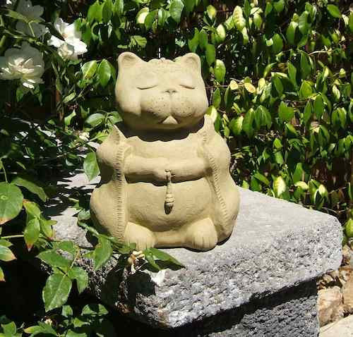 Meditating Zen Cat-Large Garden Sculpture