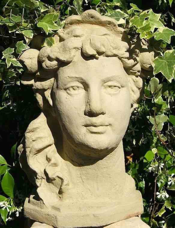 Lady Head Planter in Cast Stone