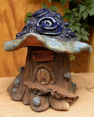 Cobalt Swirls Toad House