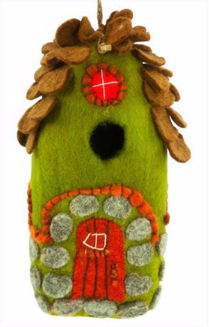Felted Wool Birdhouse-Forest House