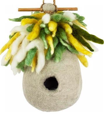 Felted Wool Birdhouse Hermit Hut