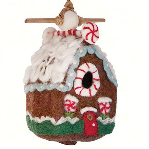 Felted Wool Gingerbread Chalet