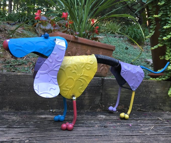 Dachshund Spring Dog Metal Yard Art