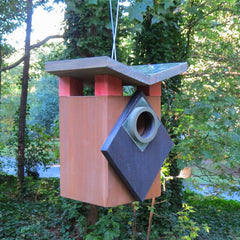 Deco Birdhouse in retro design, sleek style nest box