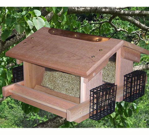 Large Capacity Deluxe Twin Hopper Bird Feeder