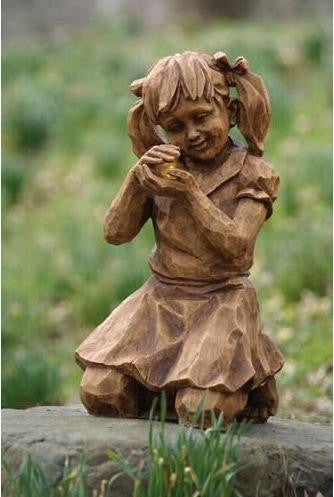 Girl with Firefly Solar Statuary