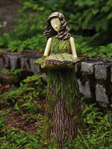 Fern Fairy Statuary Bird Feeder