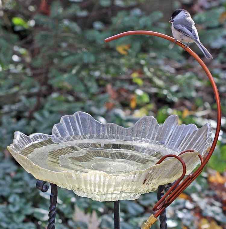 Tall Garden Bird Bath with Dripper