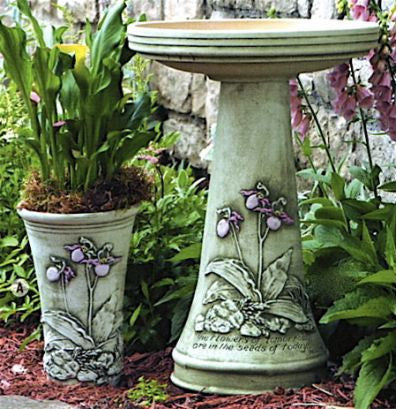 Faith Bird Bath with Locking Top