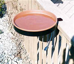 Heated Bird Bath 3 Mounting Options-Terra Cotta
