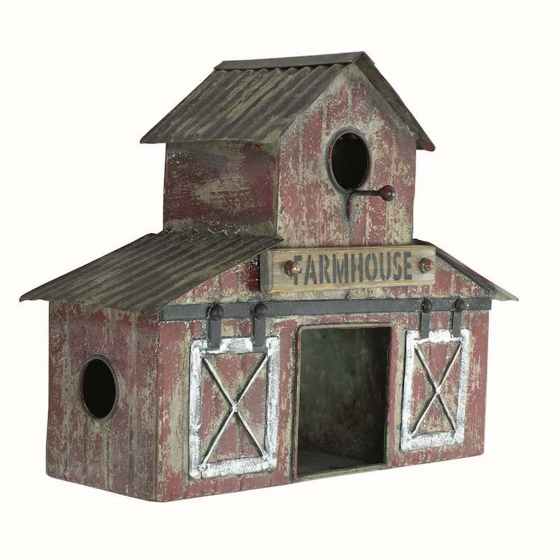 Farmhouse Barn Birdhouse - 3 Nests