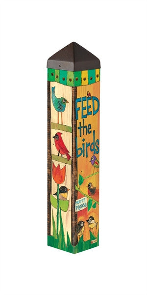 Feed the Birds Art Pole