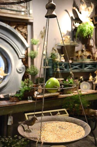 Hanging Fruit & Tray Bird Feeder