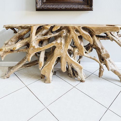 Teak Root Console Table Teak Sofa Tables Teak Root