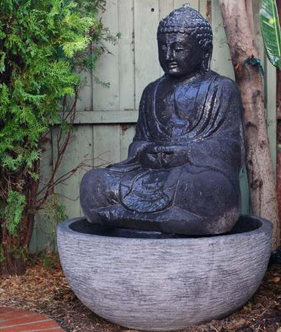 Sitting Buddha Fountain-Lava Stone