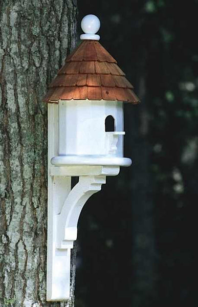Architectural Vinyl Birdhouse With Flush Mount Decorative