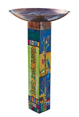 Gather Friends Tall Bird Bath