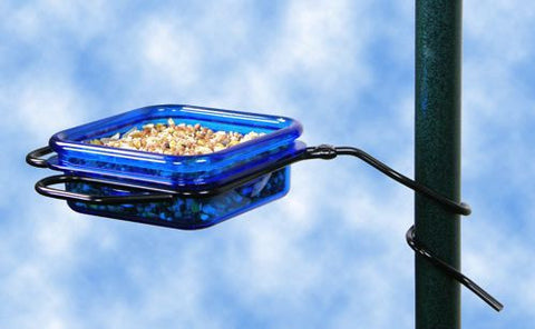 Pole Mount Fruit, Jelly & Mealworm Feeder-Orange or Blue
