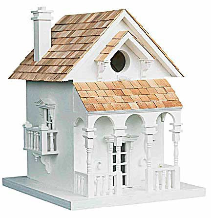Honeymoon Cottage Birdhouse with Bracket