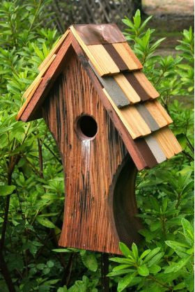Nottingham Birdhouse-Handcrafted Cypress