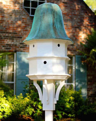 Copper Roof Birdhouse In Vinyl Pvc Dovecote Birdhouses