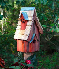 Boyd's Bungalo Birdhouse-Rustic Red