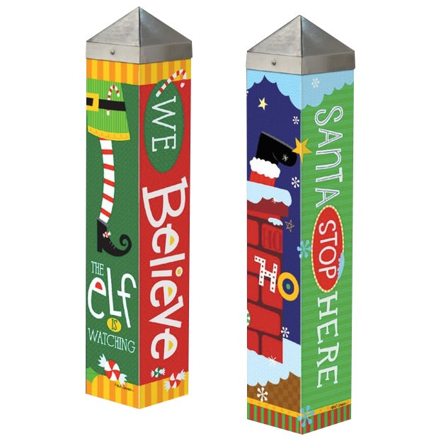 Holiday Garden Art Poles  20-inch