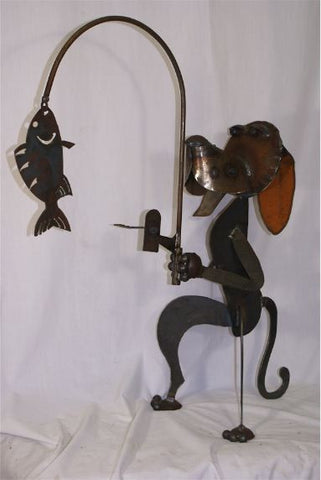 Hand Forged Dog Gone Fishing