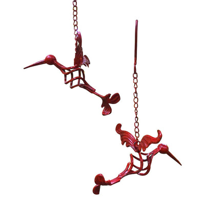 Iron Hummingbird Sculptures-Red
