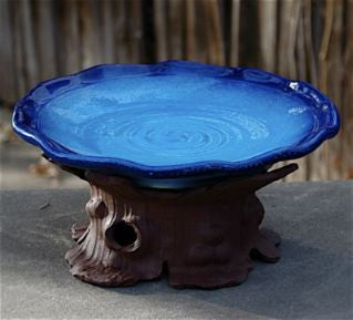 Handcrafted Pedestal Bird Bath