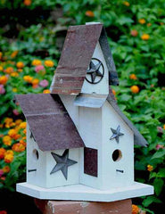 Barn Wood & Tin Birdhouse-Triple Nest-4 Entries